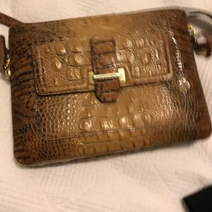 Authentic Brahmin IPAD Crossbody Toasted Almond